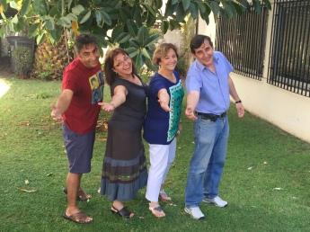 Mauricio, Carmen Gloria, Isabel y Juan Pablo Guerrero